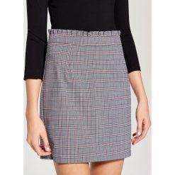 Spódniczki: Ołówkowa spódnica w kratę – Wielobarwn