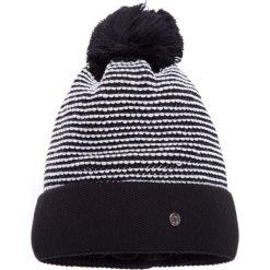 Czapki zimowe damskie: Czarna czapka z pomponem QUIOSQUE