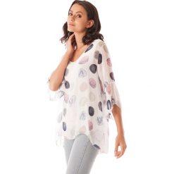 Bluzki asymetryczne: Koszulka w kolorze białym