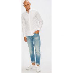 Selected - Koszula. Szare koszule męskie na spinki marki Selected, l, z bawełny, z klasycznym kołnierzykiem, z długim rękawem. W wyprzedaży za 199,90 zł.