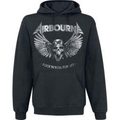 Airbourne Rock 'N Roll For Life Bluza z kapturem czarny. Czarne bluzy męskie rozpinane Airbourne, s, z kapturem. Za 164,90 zł.