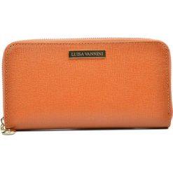 Portfele damskie: Skórzany portfel w kolorze jasnobrązowym – 20 x 11 x 2,5 cm
