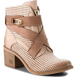 Botki CARINII - B4441 504-624-000-861. Brązowe buty zimowe damskie marki Carinii, z nubiku, na obcasie. W wyprzedaży za 279,00 zł.