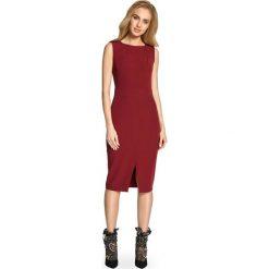 CORAZON Taliowana sukienka bez rękawów - bordowa. Czerwone sukienki hiszpanki Stylove, na co dzień, bez rękawów, dopasowane. Za 136,99 zł.