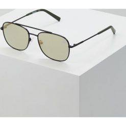 Timberland Okulary przeciwsłoneczne matte black/green. Czarne okulary przeciwsłoneczne męskie aviatory Timberland. Za 479,00 zł.