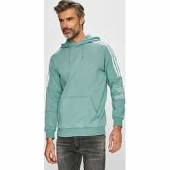 Adidas Originals - Bluza. Szare bluzy męskie rozpinane adidas Originals, l, z bawełny, z kapturem. Za 329,90 zł.