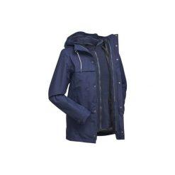 Kurtka 3w1 trekkingowa TRAVEL 100 męska. Niebieskie kurtki męskie marki QUECHUA, m, z elastanu. Za 249,99 zł.