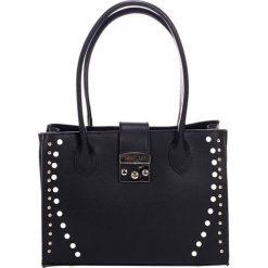 Torebki klasyczne damskie: Skórzana torebka w kolorze czarnym – (S)31 x (W)42 x (G)13 cm