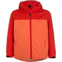 Meru RED DEER Kurtka hardshell grenadine/nasturtium. Czerwone kurtki chłopięce marki Reserved, z kapturem. W wyprzedaży za 125,40 zł.