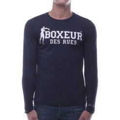 BOXEUR Koszulka długi rękaw granatowa r.M (BXE-2809F). Czarne koszulki sportowe męskie BOXEUR, m. Za 91,87 zł.