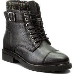 Botki LANQIER - 41C869  Dark Silver. Czarne buty zimowe damskie Lanqier, z materiału, na obcasie. W wyprzedaży za 189,00 zł.