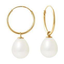 Biżuteria i zegarki: Złote kolczyki z perłami