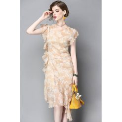 Sukienki: Sukienka w kolorze brzoskwioniowym