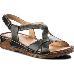 Rzymianki damskie: Sandały WALDI - 0568 Czarny