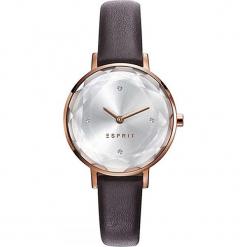 Zegarek kwarcowy w kolorze szaro-różowozłotym. Brązowe, analogowe zegarki damskie Esprit Watches, ze stali. W wyprzedaży za 227,95 zł.