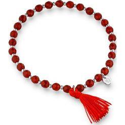 Bransoletki damskie: Bransoletka w kolorze czerwono-srebrnym
