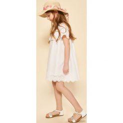 Sukienki dziewczęce: Sukienka z falbaną – Biały