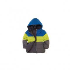 Kurtka chłopięca zimowa z kieszeniami, z kapturem, rozpinana, z polarem. Szare kurtki chłopięce z kapturem marki TXM. Za 29,99 zł.