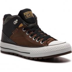 Trampki CONVERSE - Ctas Street Boot Hi 161469C Chestnut Brown/Black. Brązowe tenisówki męskie Converse, z gumy. W wyprzedaży za 279,00 zł.