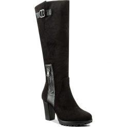 Kozaki JENNY FAIRY - WS16002-2 Czarny. Czarne buty zimowe damskie marki Jenny Fairy, z materiału. Za 149,99 zł.