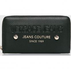Versace Jeans - Portfel. Czarne portfele damskie Versace Jeans, z jeansu. Za 339,90 zł.