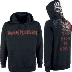 Iron Maiden The Book Of Souls Eddie Bluza z kapturem czarny. Czarne bluzy męskie rozpinane Iron Maiden, xxl, z nadrukiem, z kapturem. Za 199,90 zł.
