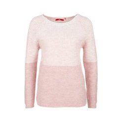 S.Oliver Sweter Damski 36 Różowy. Czerwone swetry klasyczne damskie marki S.Oliver, na zimę, s, dziergany, z okrągłym kołnierzem. W wyprzedaży za 162,00 zł.
