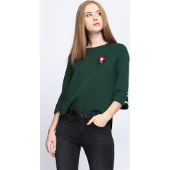 Swetry klasyczne damskie: Ciemnozielony Sweter Never Easy