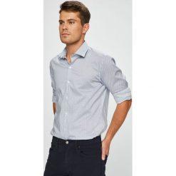 Pierre Cardin - Koszula. Szare koszule męskie na spinki marki Pierre Cardin, s, z bawełny, z włoskim kołnierzykiem, z długim rękawem. W wyprzedaży za 259,90 zł.
