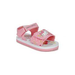 Sandały Dziecko  Hello Kitty  LEGON. Czerwone sandały dziewczęce marki Hello Kitty, xxl, z motywem z bajki, z okrągłym kołnierzem. Za 55,20 zł.