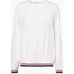 Marie Lund - Damska koszulka z długim rękawem, beżowy. Brązowe bluzki sportowe damskie Marie Lund, m, prążkowane, z kontrastowym kołnierzykiem, z długim rękawem. Za 129,95 zł.