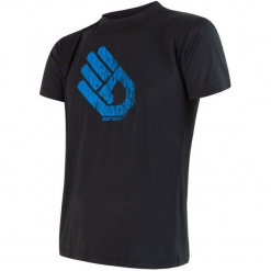 Sensor Koszulka Coolmax Fr Pt Hand Black  Xxl. Czarne odzież termoaktywna męska Sensor, m, bez rękawów, na fitness i siłownię. W wyprzedaży za 115,00 zł.