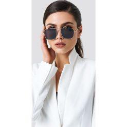 Okulary przeciwsłoneczne damskie: NA-KD Trend Kwadratowe okulary przeciwsłoneczne – Black