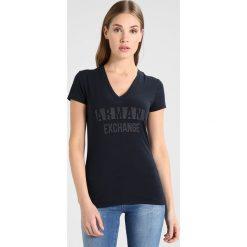 Odzież damska: Armani Exchange Tshirt z nadrukiem navy