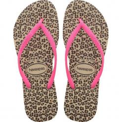 Japonki dziewczęce Slim Animals Sand beżowo-różowe r. 29/30. Brązowe klapki dziewczęce Havaianas. Za 91,16 zł.