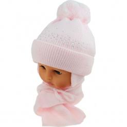 Czapka niemowlęca z szalikiem CZ+S 128A. Szare czapeczki niemowlęce Proman. Za 39,76 zł.