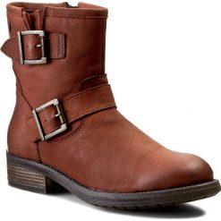 Botki GIOSEPPO - Custom 20903 Leather. Brązowe buty zimowe damskie Gioseppo, z materiału. W wyprzedaży za 199,00 zł.
