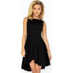 Sukienki: Gloria Lacosta – Ekskluzywna sukienka z dłuższym tyłem – CZARNA