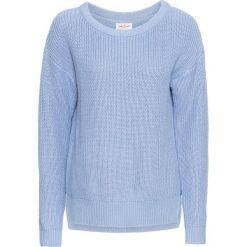Swetry oversize damskie: Sweter oversize bonprix perłowy niebieski