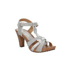 Sandały Tamaris  Sandały srebrne skórzane  1-28349-28. Szare sandały damskie marki Tamaris. Za 169,99 zł.