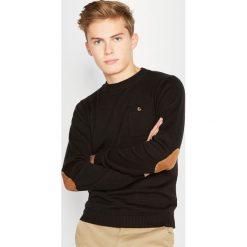 Odzież chłopięca: Sweter z łatami na łokciach, 10-16 lat