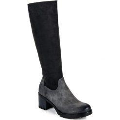 Buty zimowe damskie: Klasyczne kozaki na obcasie IMANI