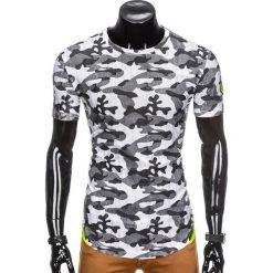 T-shirty męskie: T-SHIRT MĘSKI Z NADRUKIEM MORO S864 – BIAŁY