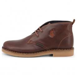 U.S. Polo Assn. Buty Za Kostkę Męskie Must 45 Brązowe. Brązowe buty wizytowe męskie U.S. Polo Assn., ze skóry. Za 519,00 zł.