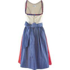 Sukienki balowe: Sukienka ludowa z fartuchem, długość do kolan bonprix indygo – czerwony wzorzysty