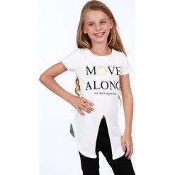 Tunika dziewczęca z rozcięciem kremowa NDZ8229. Szare sukienki dziewczęce marki Fasardi. Za 39,00 zł.