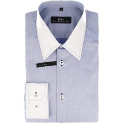 Koszula ARMANDO slim 14-05-12. Niebieskie koszule męskie na spinki marki Giacomo Conti, m, z tkaniny, klasyczne. Za 199,00 zł.