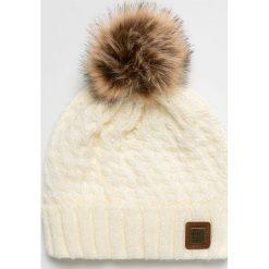 Roxy - Czapka. Szare czapki damskie Roxy, na zimę, z dzianiny. Za 139,90 zł.