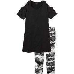 Piżamy damskie: Piżama bonprix czarny z nadrukiem