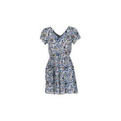 Sukienki krótkie Compania Fantastica  EFLERETE. Niebieskie sukienki mini marki Compañía fantástica, l, z krótkim rękawem. Za 151,20 zł.